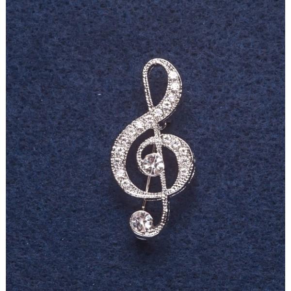 Брошь Скрипичный ключ 8888