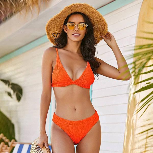Купальник раздельный оранжевый 8186