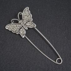 Брошь булавка Бабочка 1578