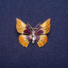 Брошь Бабочка в эмалью 7291