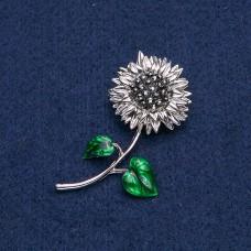 Брошь Цветок Подсолнух 9020