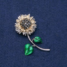Брошь Цветок Подсолнух 9021