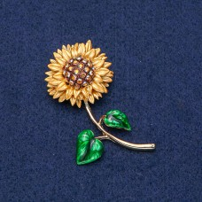 Брошь Цветок Подсолнух 9022