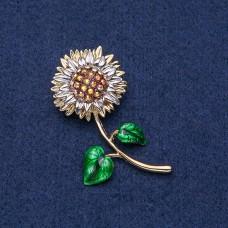 Брошь Цветок Подсолнух 9023