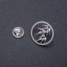 Брошь Кольцо с листиками 9032
