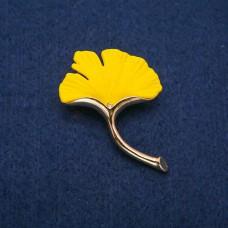 Брошь Лист желтый 8523