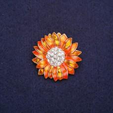 Брошь Цветок оранжевый 8326