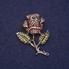 Брошь Цветок Роза 8327