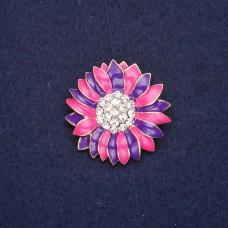 Брошь Цветок малиново-фиолетовый 8331