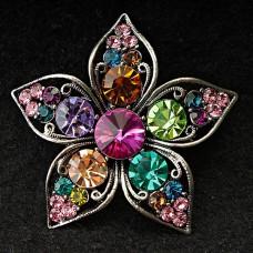 Брошь Цветок разноцветный 8333