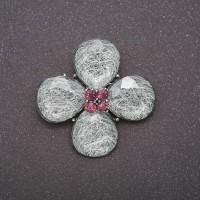 Брошь Цветок четырёхлистный 8347