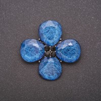 Брошь Цветок четырёхлистный 8348