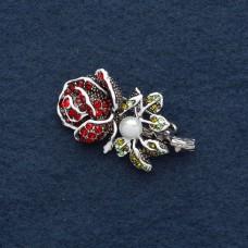 Брошь Цветок Роза 8361