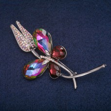 Брошь Тюльпан с бабочкой 8381