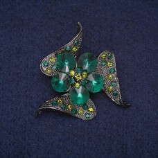 Брошь Цветок зеленый 8394