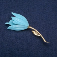 Брошь Цветок голубой 8539