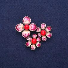 Брошь Три цветка 8825
