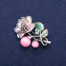 Брошь цветок розовый 8960
