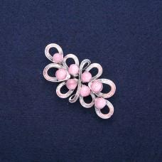 Брошь цветок розовый 8967