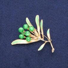 Брошь Цветок зеленый 8969