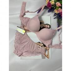 Комплект нижнего белья розовый 0200