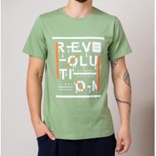 Мужская футболка зеленый 4732