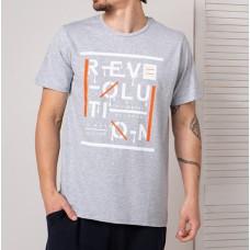 Мужская футболка серая 4733