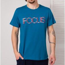 Мужская футболка бирюзовая 4735