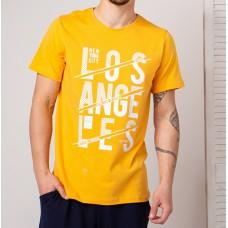 Мужская футболка желтая 4743