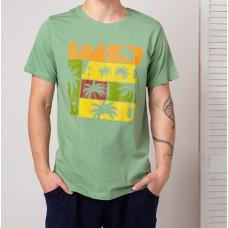 Мужская футболка зеленая 4748