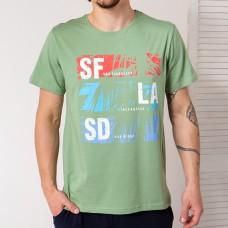 Мужская футболка зеленая 4754