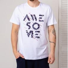 Мужская футболка белая 4755
