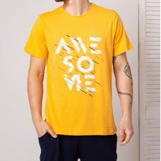 Мужская футболка желтая 4759
