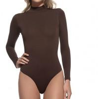 Боди женское коричневое 9516