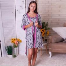 Пижама женская с халатом 6272