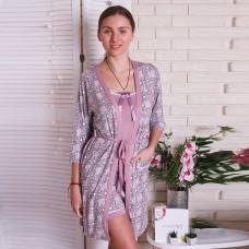 Пижама женская с халатом 6284