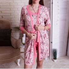 Пижама женская с халатом 6285