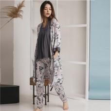 Пижама женская штаны с халатом 6287