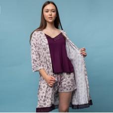 Пижама женская с халатом 6289