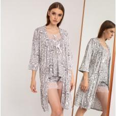 Пижама женская с халатом 6290