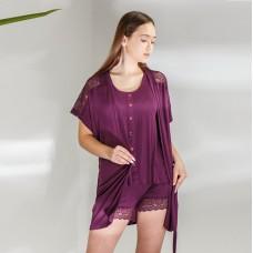 Пижама женская с халатом 6297