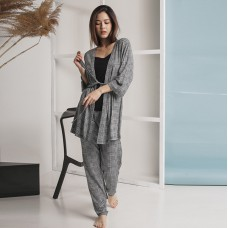 Пижама женская штаны с халатом 6301
