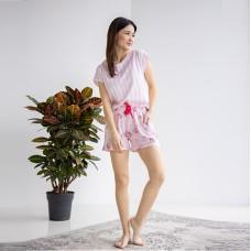 Пижама женская шорты Розовая 6591