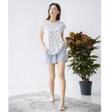 Пижама женская шорты серые 6596