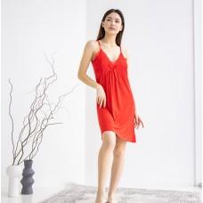 Сорочка женская красная 6609