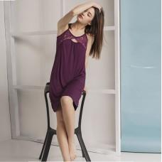 Сорочка женская баклажановая 6613