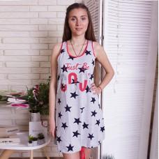 Сорочка женская звездная 6625