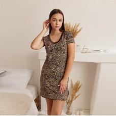 Туника женская леопардовая 6676
