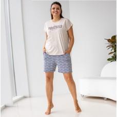 Пижама женский бежевая 7030