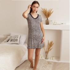 Сорочка женская Леопардовая синяя 7488